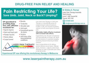 Laser Pain Therapy - A5 Flyer Toorak v2