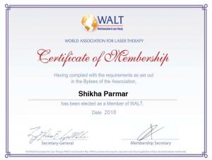 WALT Member Cert 2018